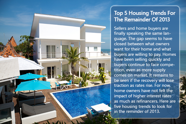 Five Housing Trends For The Rest of 2013